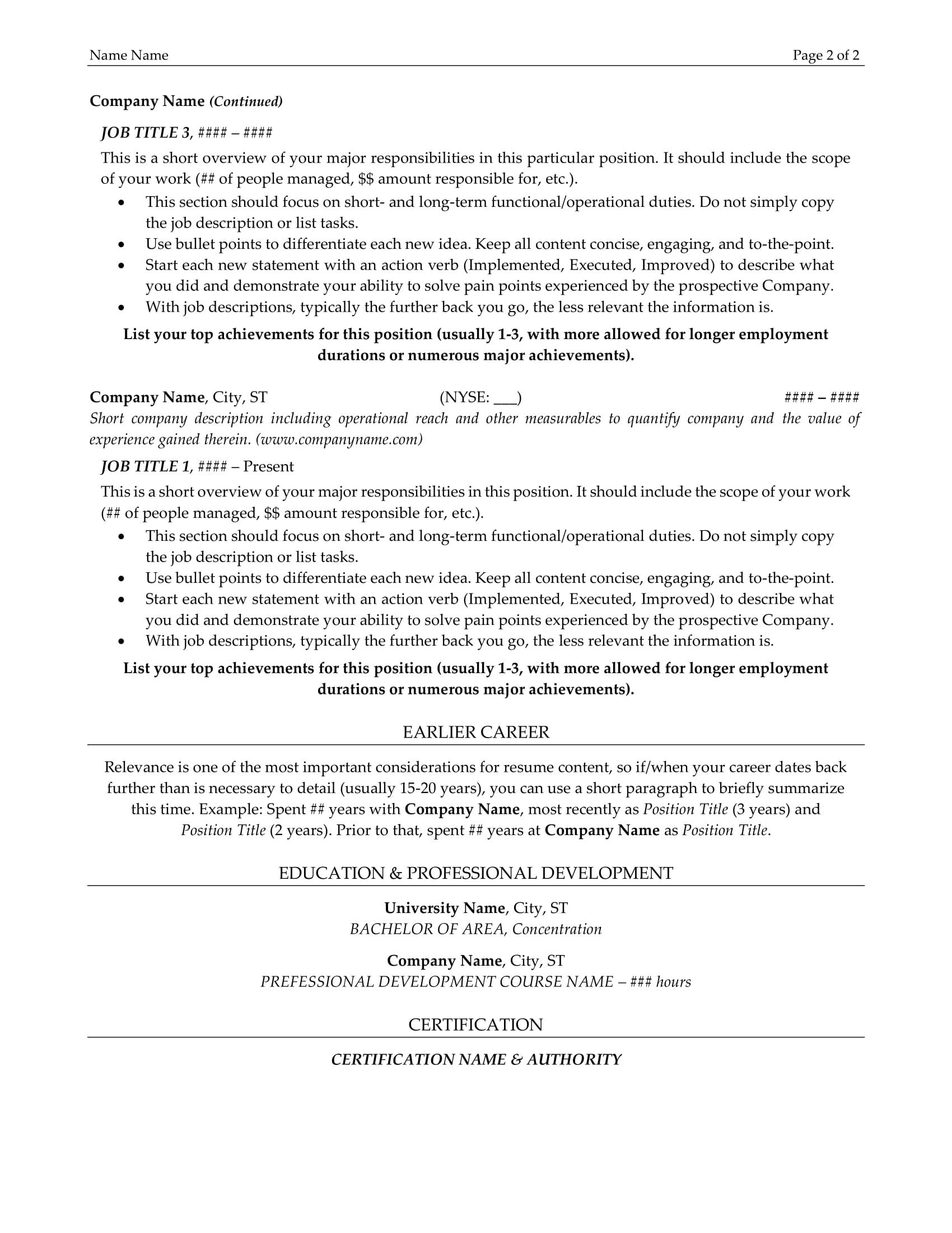 resume example resume sample alllevel resumes resume