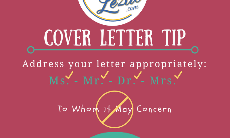 Cover Letter Tip Name Drop Resume Lezlie