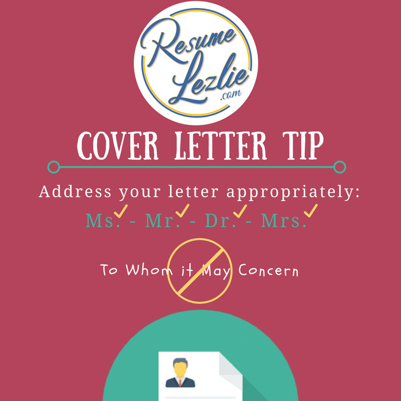 Cover Letter Tip Name Drop