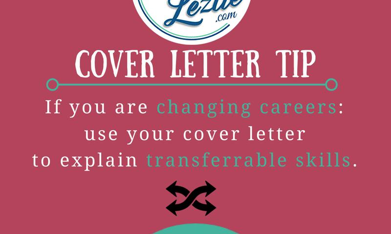 Cover Letter Tip Transferable Skills